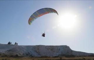 Pamukkale'yi havadan görmek için tatillerini...