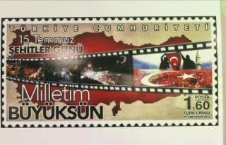 """PTT'den """"Demokrasi ve Milli Birlik Günü""""..."""