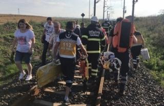 Tekirdağ'da tren kazası: Bir vagon raydan çıktı