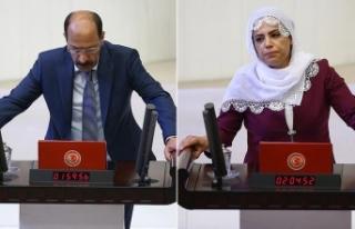 Terörist cenazesine katılan HDP'li vekillere...