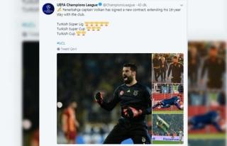 UEFA'dan Volkan Demirel paylaşımı