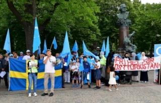Urumçi olaylarının 9. yılı Stockholm'de...