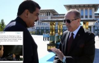 Venezuela Devlet Başkanı Maduro'dan Erdoğan...