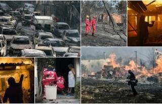 Yunanistan'daki orman yangınlarında en az 60...