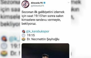 Altınordu Başkanı Özkan'dan sosyal medya...