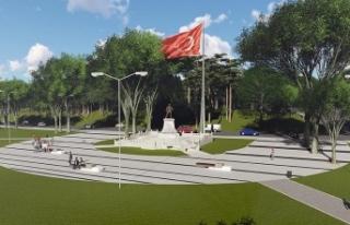 Atatürk'ün bizzat modelliğini yaptığı heykel...