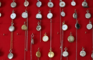Bayburtlu işçi emeklisinin saat merakı