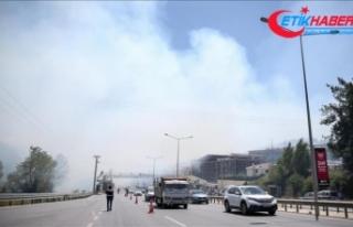 Bursa'daki yangına havadan ve karadan müdahale...