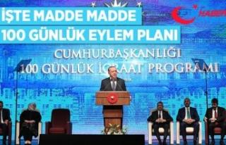 Cumhurbaşkanı Erdoğan '100 Günlük Eylem...