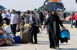 Dera'dan zorunlu tahliye edilenlerin sayısı...