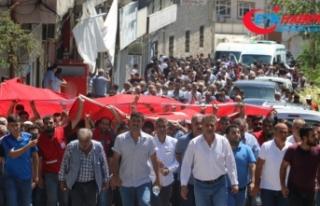 Diyarbakır şehidi 'kahrolsun PKK' sloganları...
