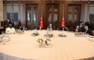 Erdoğan'dan yabancı devlet temsilcileri onuruna...
