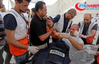 İsrail güçleri geçen ay 28 Filistinli gazeteciyi...