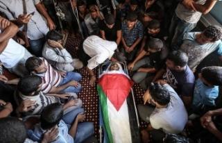 İsrail askerlerinin şehit ettiği Filistinlinin...