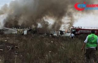Meksika'da düşen uçaktaki 101 kişi kurtarıldı