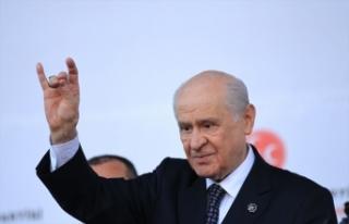 MHP Lideri Bahçeli: MHP, Barış Pınarı Harekatı'nın...