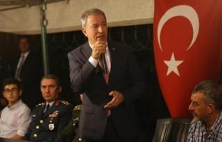Milli Savunma Bakanı Akar: TSK her türlü gayreti...