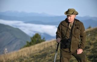 Putin dağlarda