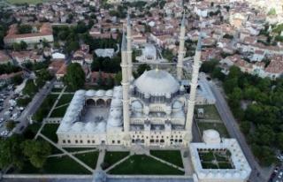 Selimiye Camisi bayram boyunca doldu taştı