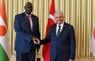 TBMM Başkanı Yıldırım, Nijer Meclis Başkanı...