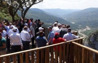 Valla Kanyonu 'seyir terası' açıldı