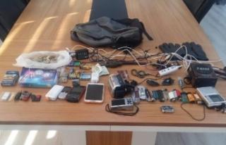 Amasya'da otomobili iterek çalan hırsızlık şüphelisi...