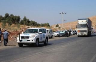 İnsani yardım çalışanları İdlib'de rejimi...