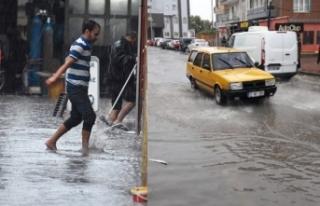 Çanakkale'de şiddetli yağmur