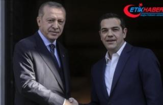 Erdoğan'ın Yunanistan Başbakanı Çipras...