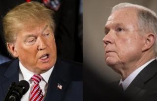 Trump'tan Sessions'a tepki: Benim bir Adalet...