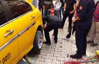 Elazığ'da taksinin bagajındaki yılanı itfaiye...