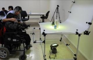 Engelli öğrenciler bu lisede meslek öğreniyor