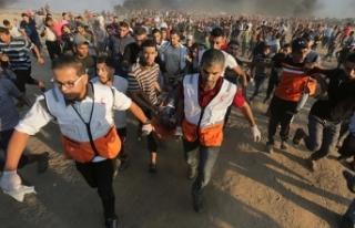 Gazze'deki barışçıl gösterilerde 6 Filistinli...