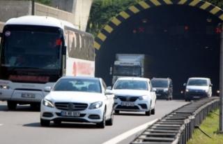 Bolu Dağı tünelinin Ankara yönü 20 gün ulaşıma...
