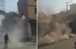 Bursa'da güvenlik önlemi alınmadan yıkım