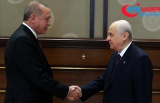 Cumhurbaşkanı Erdoğan MHP Lideri Bahçeli görüşmesi...