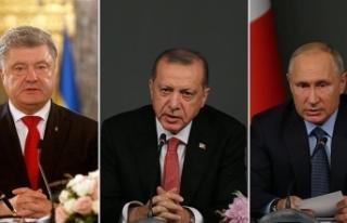 Cumhurbaşkanı Erdoğan, Putin ve Poroşenko ile...