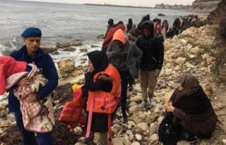 Düzensiz göçmenleri jandarma kurtardı