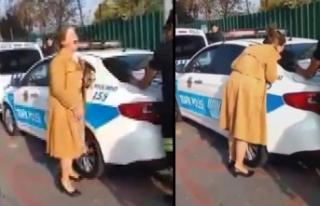 Ehliyetsiz araç kullanan kadının çığlıkları