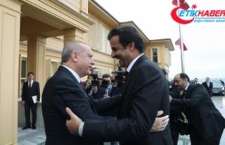 Erdoğan Katar Emiri ile bir araya geldi