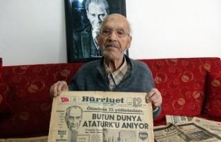 Her 10 Kasım'da bir gazete alıp sakladı