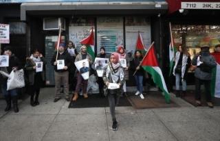 New York'ta İsrail'in Filistinlilere saldırıları...