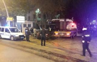 Önce polise ardından Büyükelçilik önündeki...