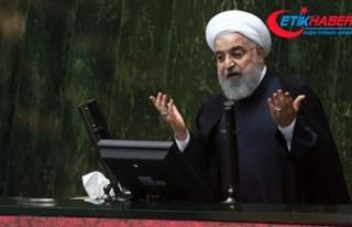"""Ruhani'den ABD'nin """"zalimce"""" yaptırımlarına..."""