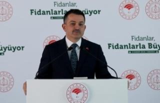 Tarım ve Orman Bakanı Pakdemirli: 10 milyon fidan...