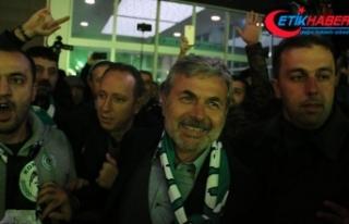 Teknik direktör Kocaman'a Konya'da coşkulu...