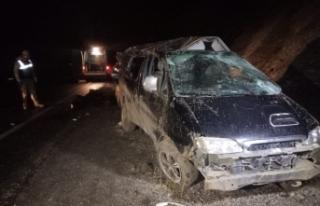 Van'da kaçak göçmenleri taşıyan araç takla...