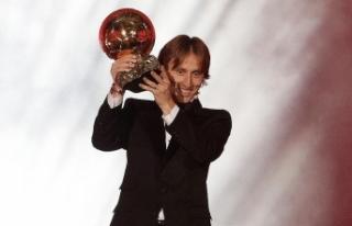 'Altın Top' ödülü Modric'in