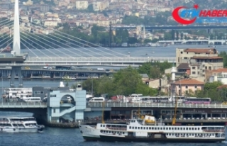 Atatürk, Galata ve Haliç Metro köprüleri gece...