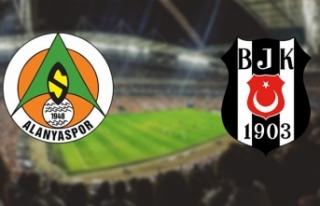 Aytemiz Alanyaspor - Beşiktaş maçının 11'leri...